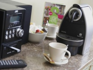 All Executive rooms and the Junior Suite are equipped with Nespresso machines, tea facilities and a stereo with MP3 connection.