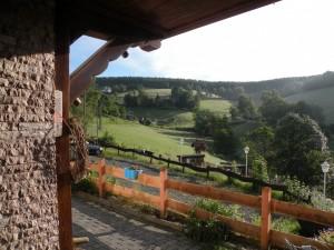 Uitzicht over dal vanaf het Landgasthof