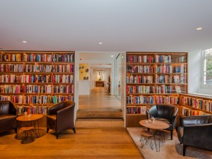 the famous librarybar contains a collection of over 5000 books, all signed by the authors while staying at the Ambassade Hotel